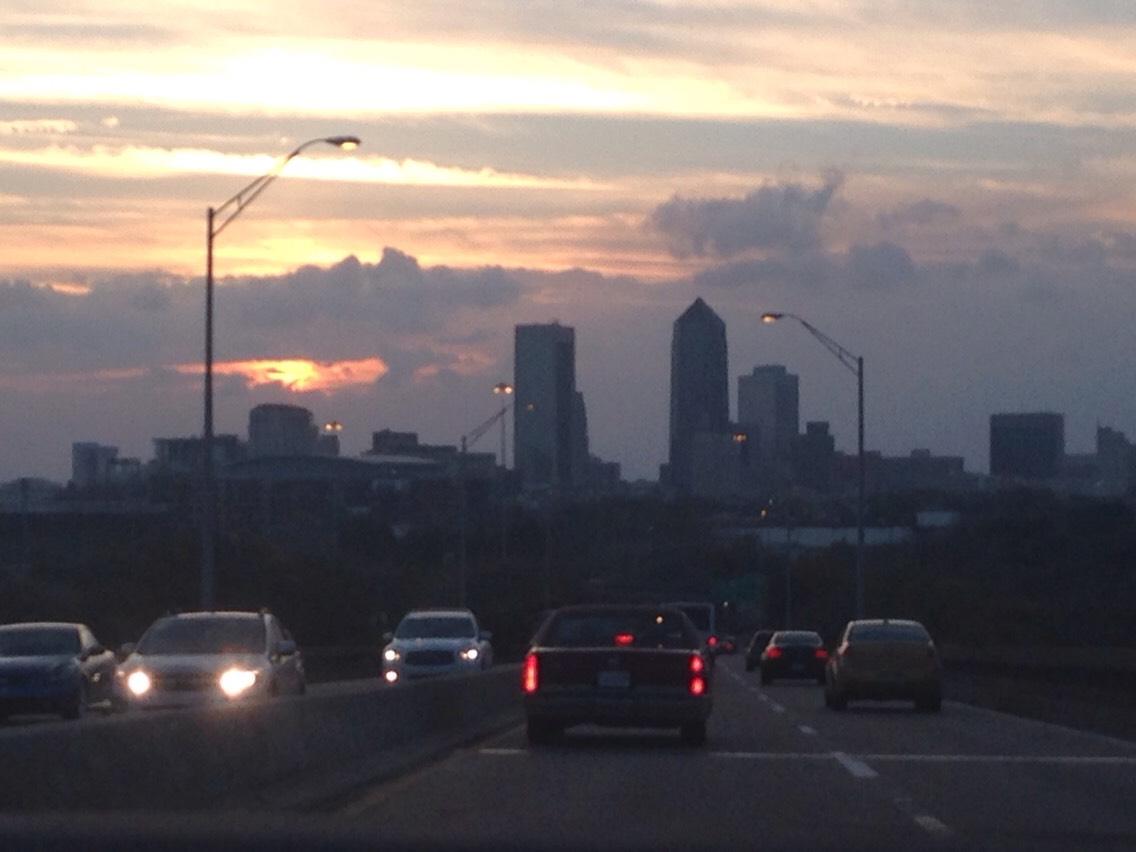 downtown Jacksonville, sunset🚗🚕🚙🚗🚕🚙🚗🚗