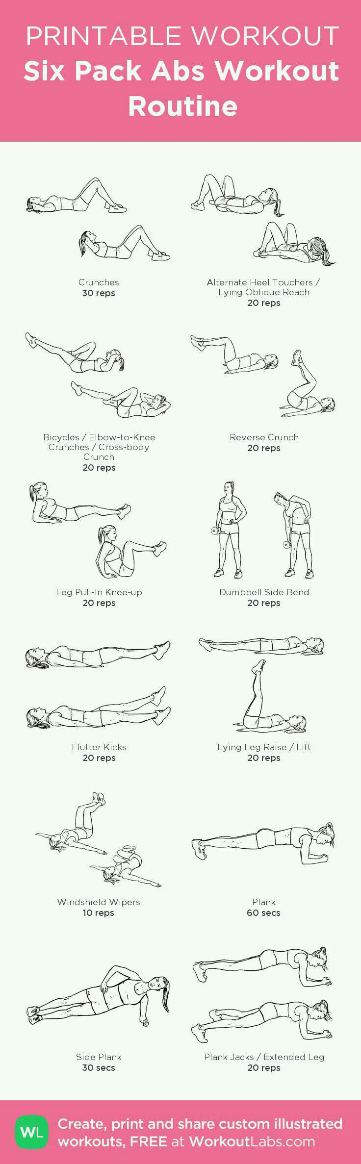Six pack abs workout