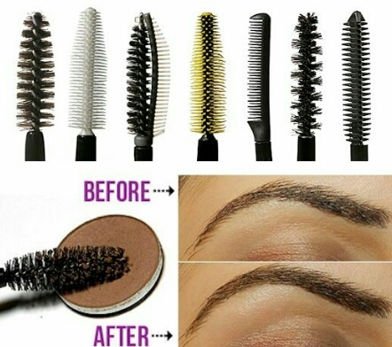Make sure to save your Mascara brushes! You can put an eyebrow color on the Mascara brush and run it through your eyebrows making a more define look!