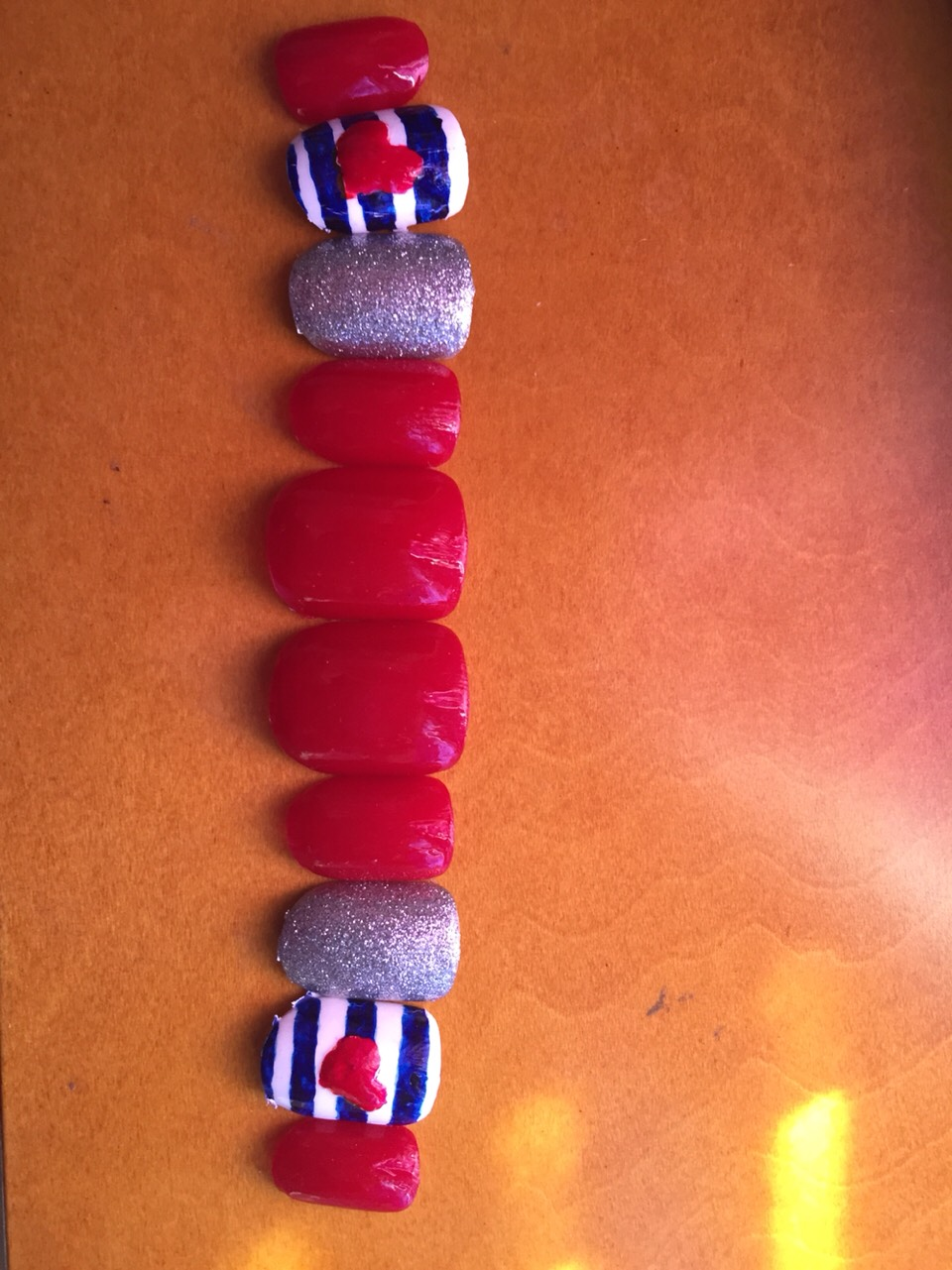 Cover all nails with a top coat and let to dry for a while I let mine For about 3-4 hrs.