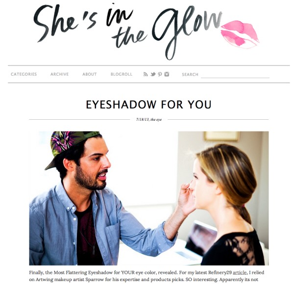 She's in the Glowbrings original, useful content to the world of beauty. More of a Millennial how-to guide than a list of tutorials for fresh-faced beauty, She's in the Glow gives readers an up-close-and-personal look at the latest beauty trends and how to wear them.
