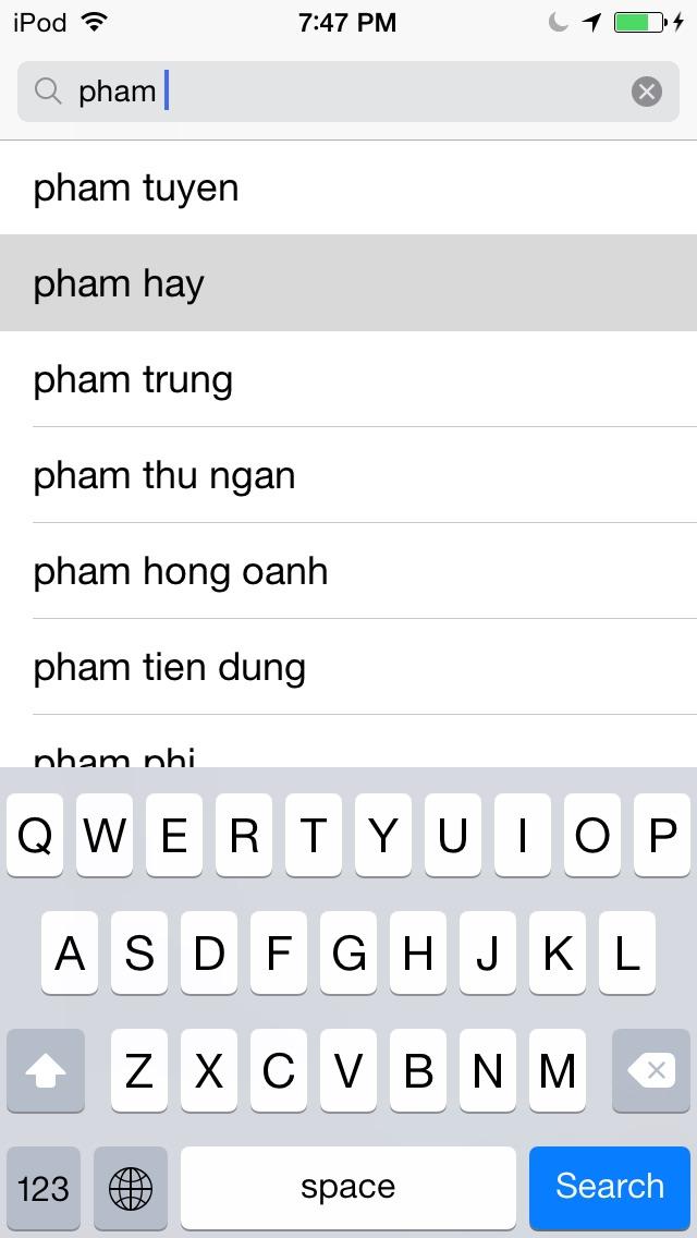 1. Look up Pham Hay in The App Store