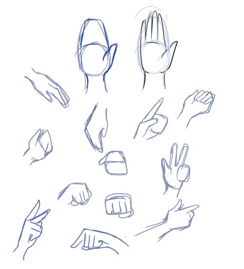 Here is how you could draw her hands.