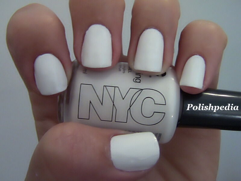 Then take a white nail polish and make little dots on your nails.