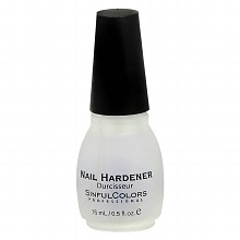 Next, apply a nail hardener or strengthener. This one from Sinful Colors works incredibly well. I use this as a base coat and since it is designed to strengthen your nails, it makes them less likely to break - helping your nails grow up to 2x faster.