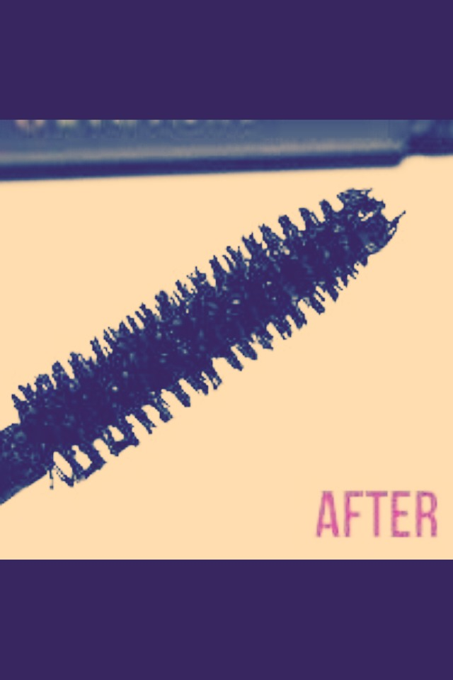 Place mascara stick under hot water to get rid of clumps :)