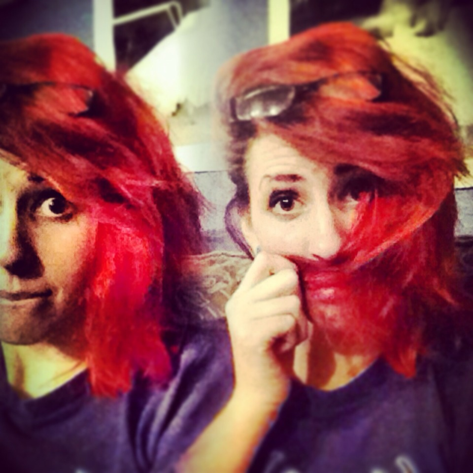 Red fades really quickly
