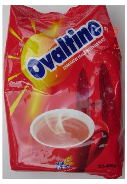 Half a packet of chocolate ovaltine (of course you could use cocoa powder)
