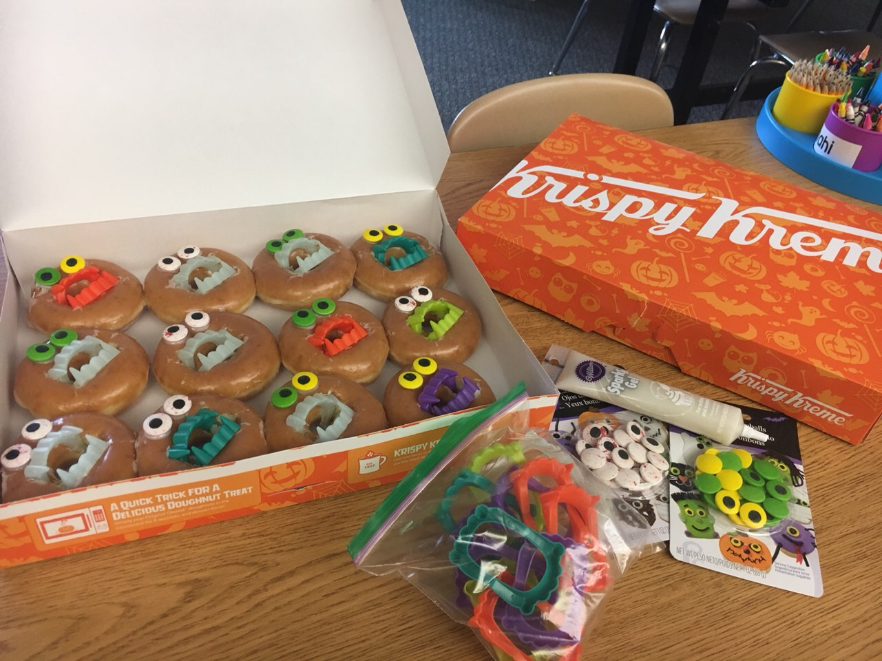 Halloween Vampire/Monster Donuts For Kids by Sarah O'Dea