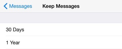 Delete messages less than no of days set by user