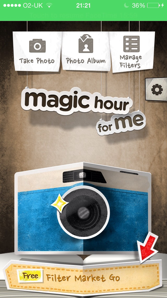 Use the app magic hour!