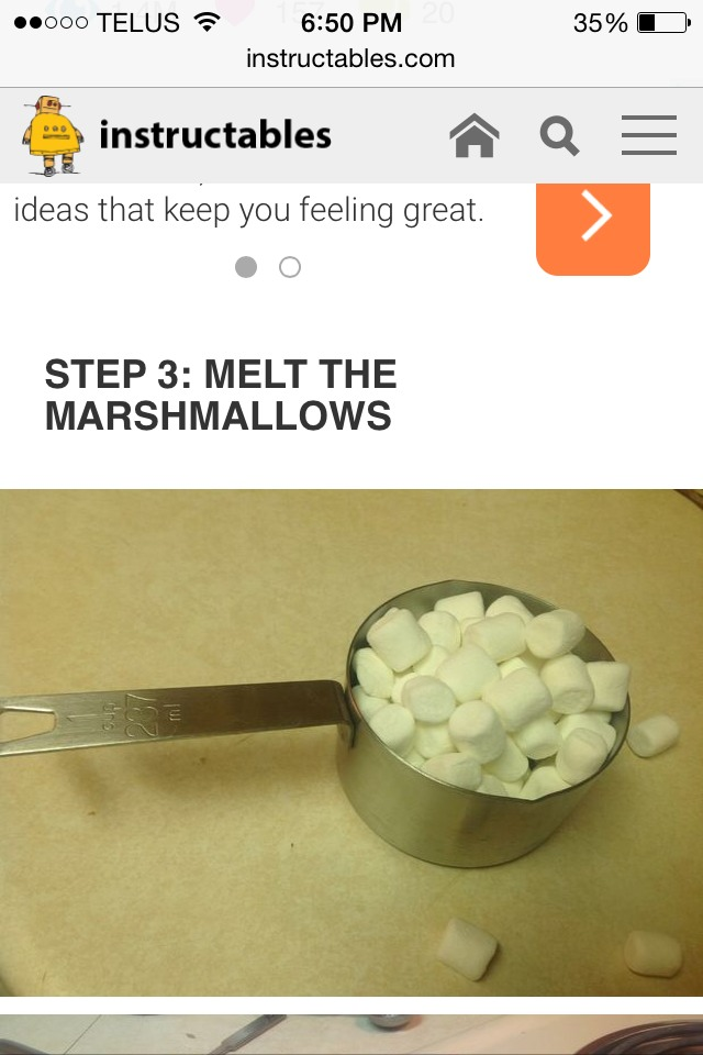 Once the chocolate chips are melted add 1 cup of marshmallows into the sauce pan and melt them into the mix