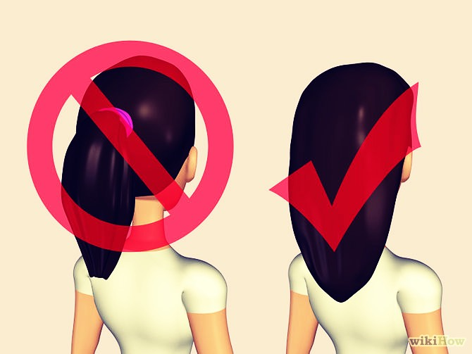 DO NOT put your hair into tight up dos. This damages and breaks your hair!
