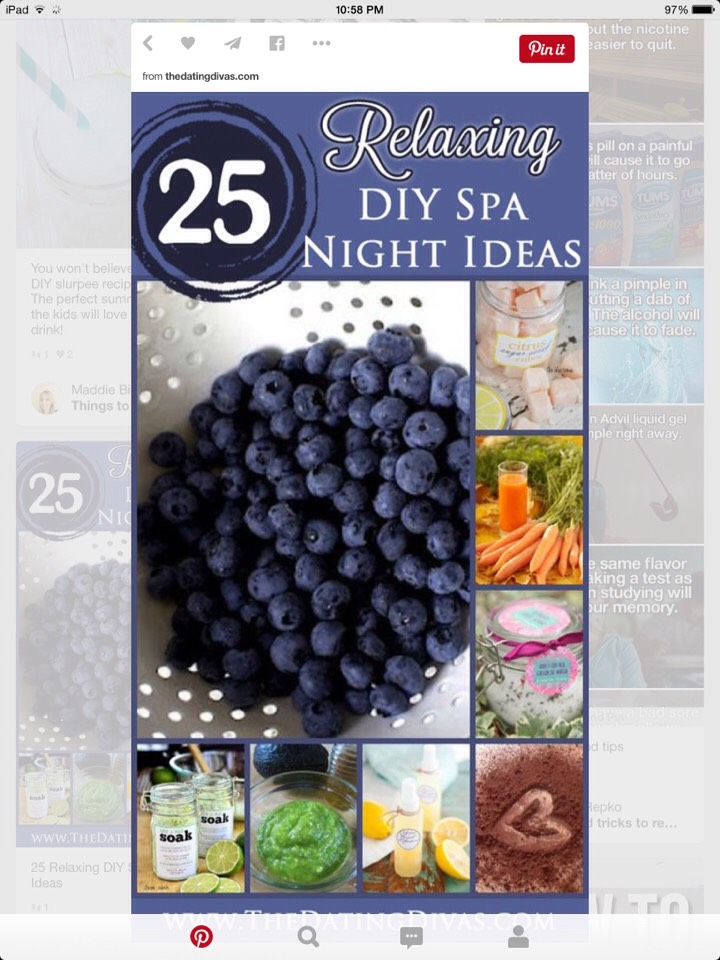 http://www.thedatingdivas.com/you-me/lookin-good-for-your-spouse/25-relaxing-diy-spa-night-ideas/