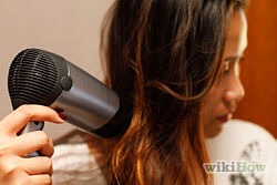 If possible, air dry your hair. If you are in a hurry, use a heat protectant spray/serum/etc. and blow your hair until damp.