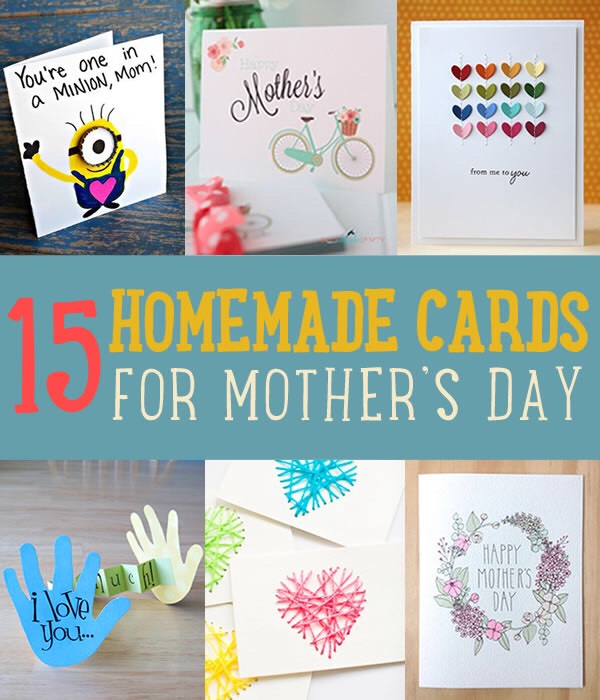 mothers day card crafted - 600×700