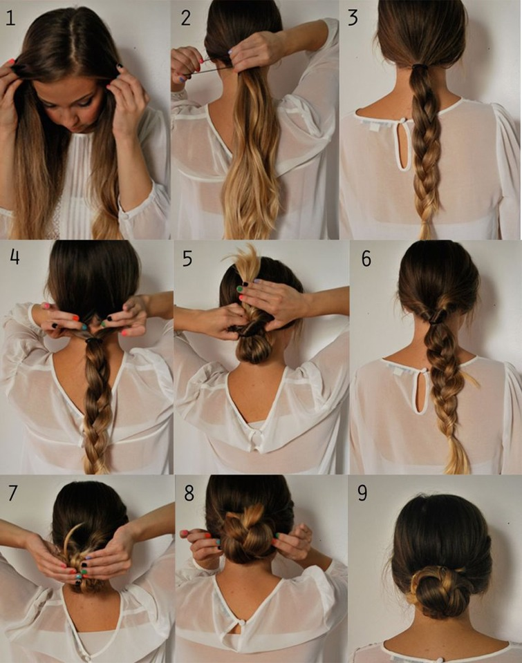 A cute hairstyle but quick to do! You can practically wear this look anywhere. I like to wear it on lazy days especially