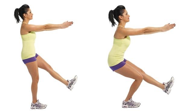 10 one leg squats (on each leg)