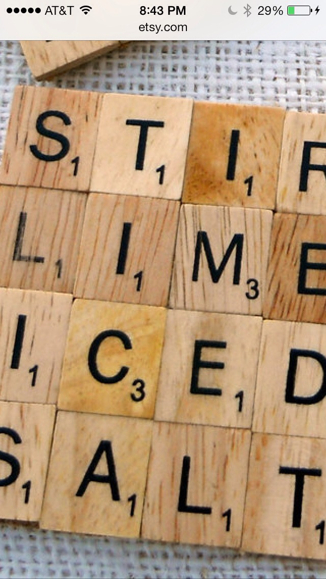 Make your favorite words into fun coasters!