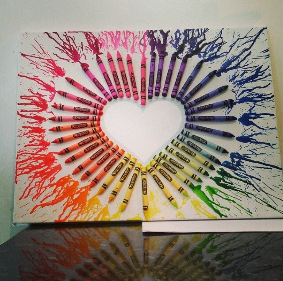 Musely for How to make a melted crayon art canvas