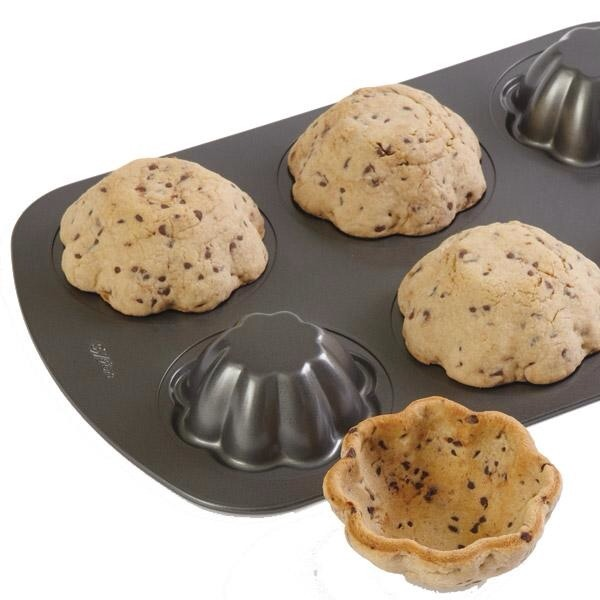 Flip a muffin tin upside down to create cookie bowls, perfect for ice cream!