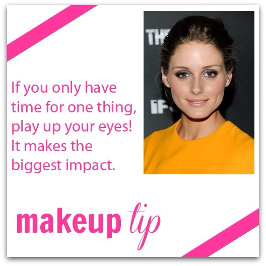 Not got time to do all your make up just make your eyes pop as that's the main part and what people notice first.