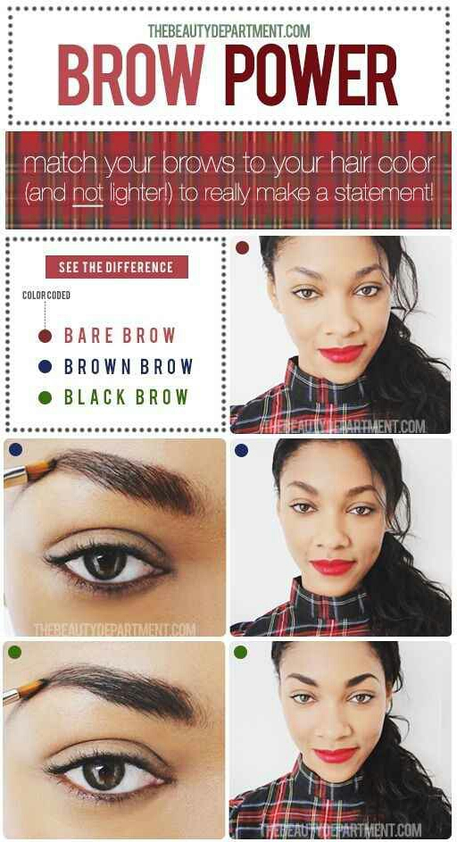 11. Or choose a darker brow shade for a more striking look.