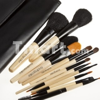 12 piece set High-Quailty Head Wood Handle Cosmetic Only $15.57                  Ships in 24 hours