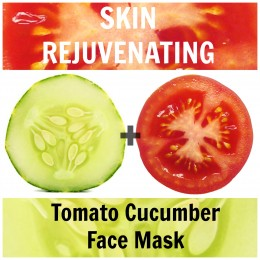 3) Ingredients: 1/2 ripe tomato, 1/4 cucumber