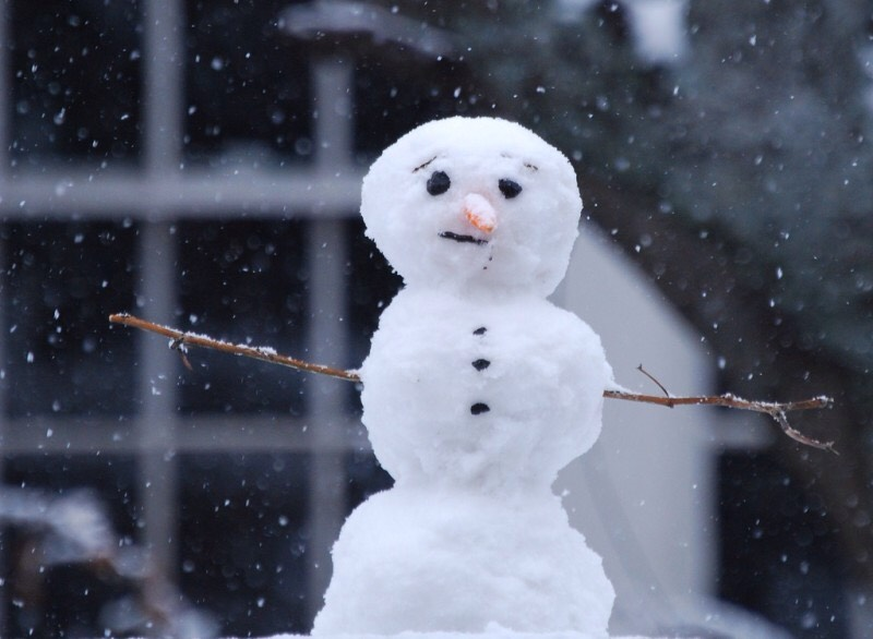 1.) build a snow man! Even though there might be a little on the ground, gather it up and build one!