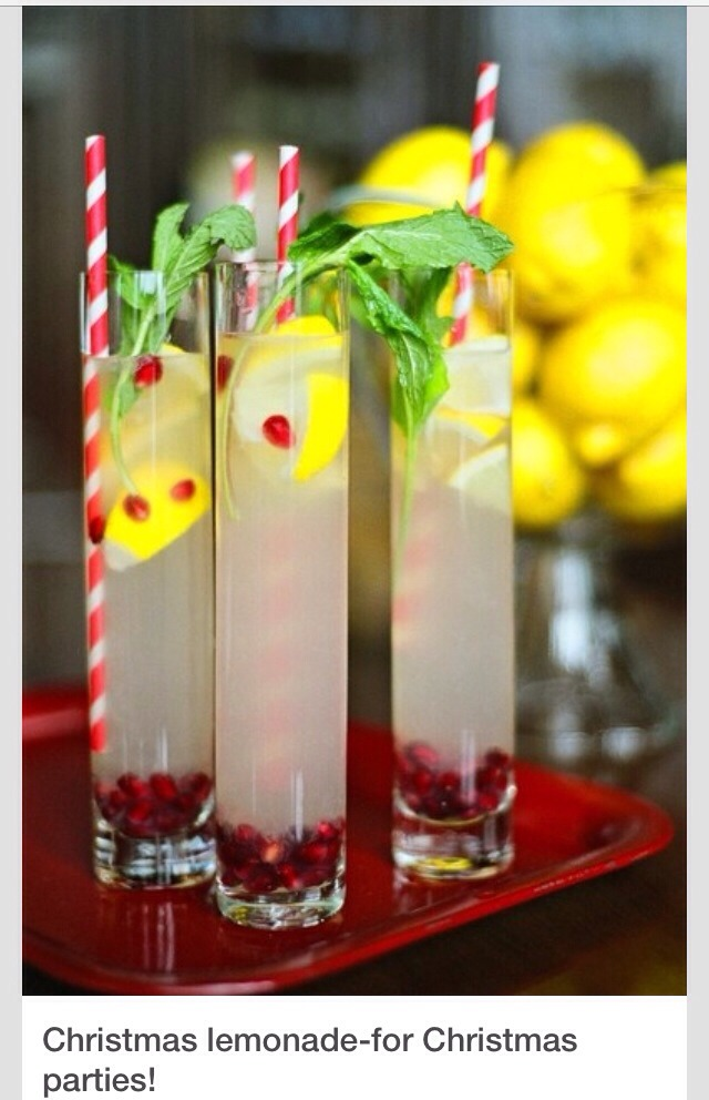 Add pomegranate seeds in your regular lemonade, top with mint leaves and serve with candy cane straws. Perfect for this festive season. Enjoy 👍👍👍