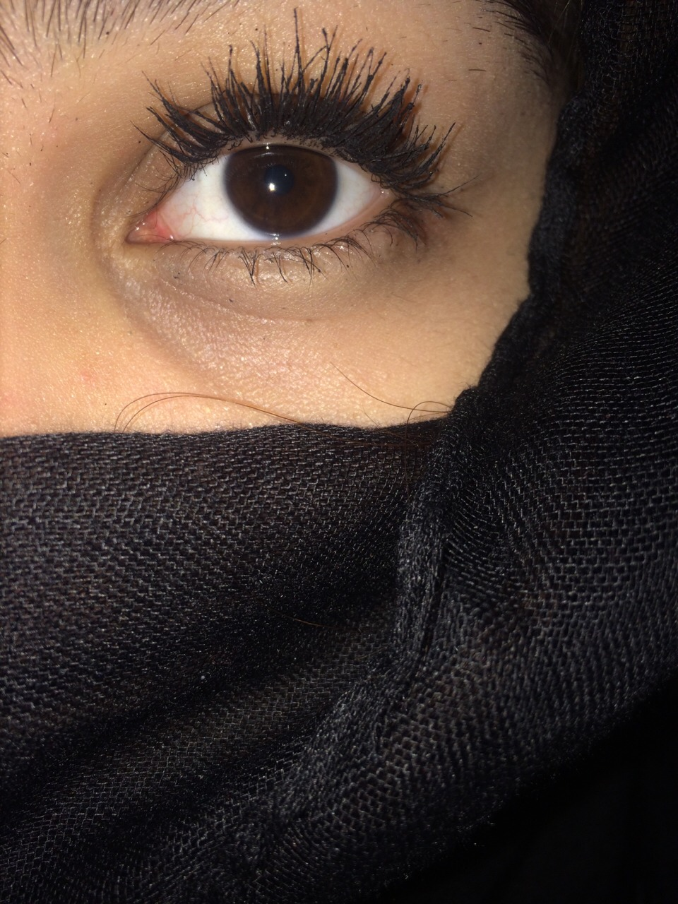 this is with 3 coats these are my real lashes