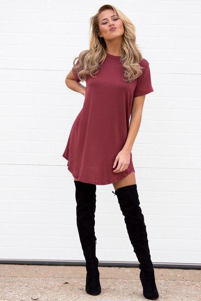 Show off your legs by wearing your thigh highs with a mini dress.