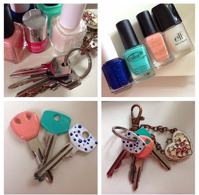 Forget about buying those rubber key covers. Simply paint the top of your  keys to
