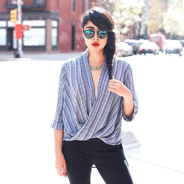 The Wrap-and-Tuck Trend Was Made For You Whether your design has buttons or not, you can take more of a risk with your neckline when you don't have a bra to worry about.