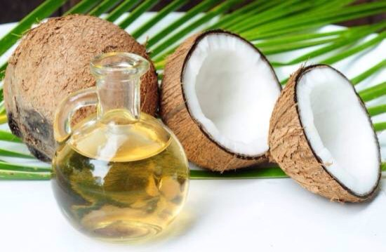 ABOUT COCONUT OIL |As long as temperatures are below 76 degrees F, coconut oil maintains a thick, sold texture. However, even in this state, it melts rapidly upon contact with the skin. Coconut oil is easily absorbed and does not clog pores.