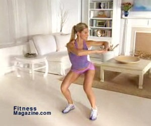 Squat twist with thrust