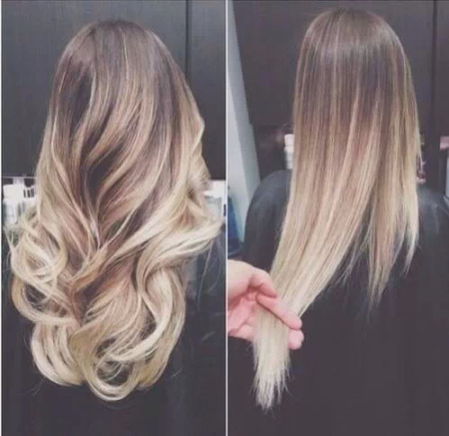 Really pretty ombré  Curled or straight? You decide...