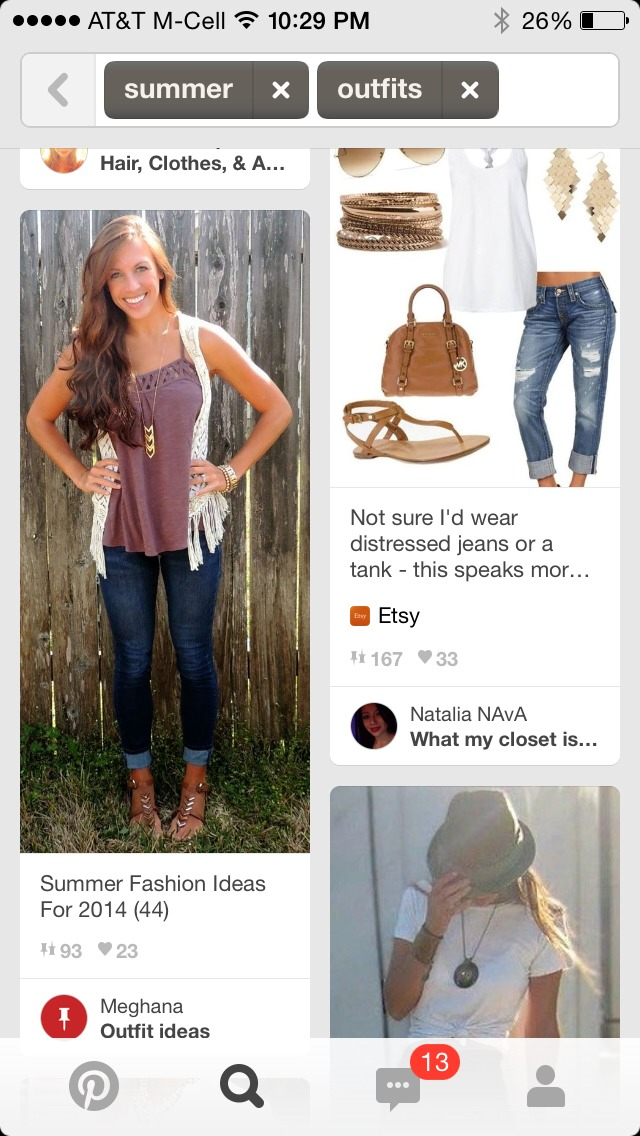Tank top, Cardigan, Cute flip flops, rolled up jeans