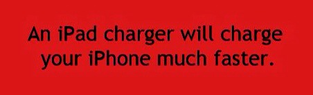 Charge your iPhone with an iPad charger. It will charge much faster