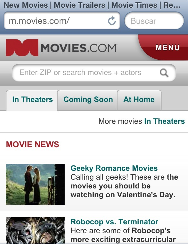 It keeps you updated on what is new in the movies and also gives you movie news!!!!