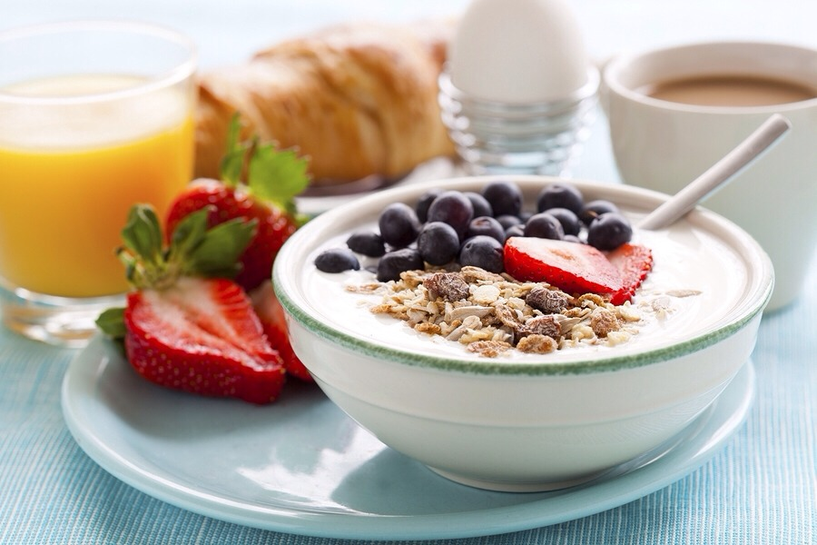 Eat a healthy breakfast everyday. Experts recommend 30 grams of protein for breakfast.