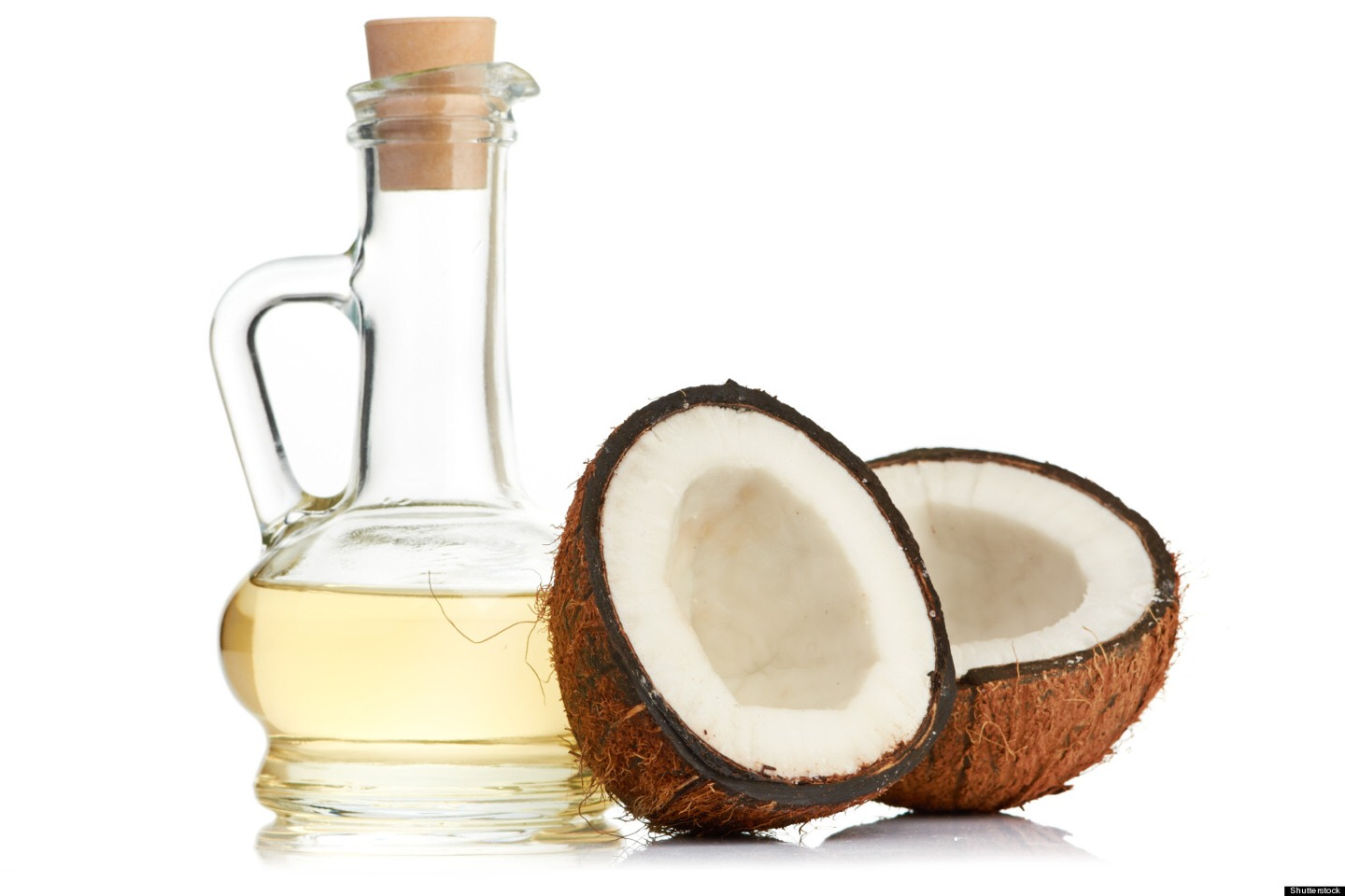 Apply coconut oil to the ends of your hair everyday.  A little goes a long way.