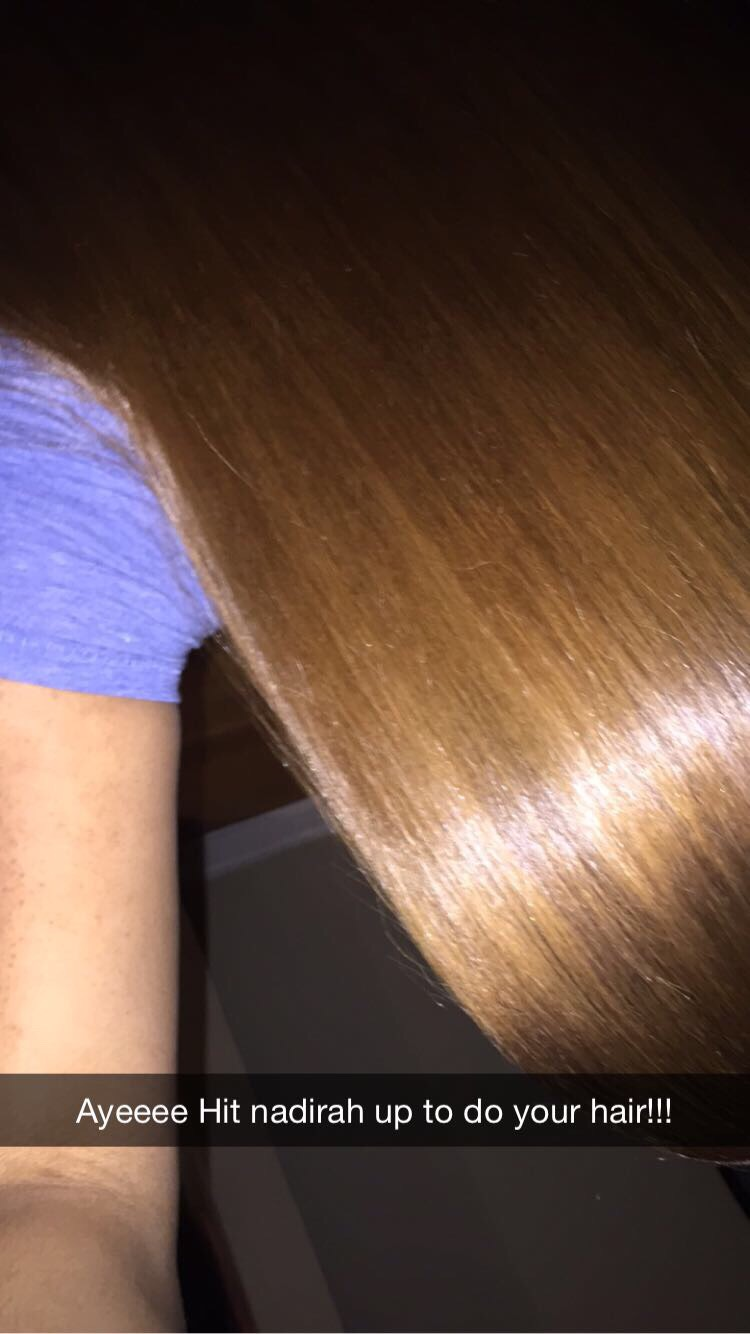 Here's when it's straight. I used a chi flatiron