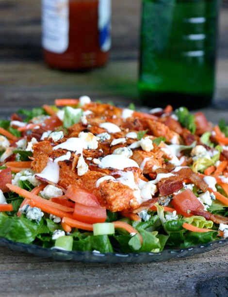 Buffalo Chicken SaladIf you want to amp up your salad with some protein, this buffalo chicken salad is the perfect option. Drizzled with a touch of blue cheese dressing, it'll be a sure-fire family favorite in no time.
