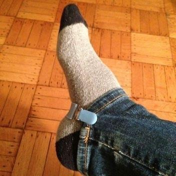 Use mitten clips, strapping under your feet to keep jeans down in boots!