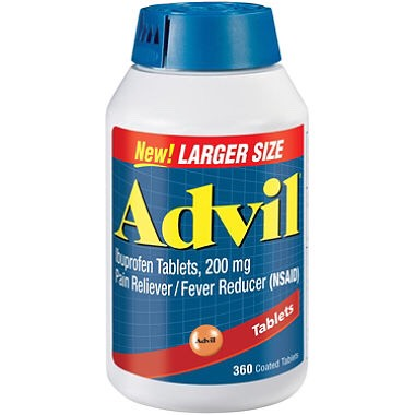 Advil in case you have unexpected pain.