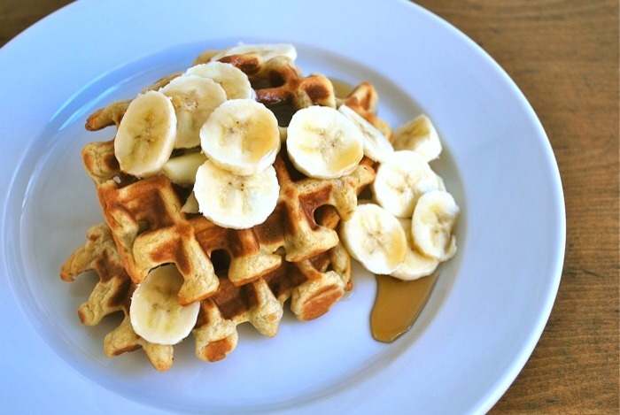 Whole Wheat Waffles  Don't make these if you're planning on jogging right after breakfast, but if you are looking for a healthy breakfast to make on the morning of a competition, whole wheat waffles are high in carbs and low in sugar, making them a perfect option.