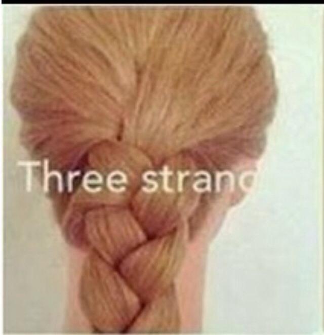 Simple 3 strand braid