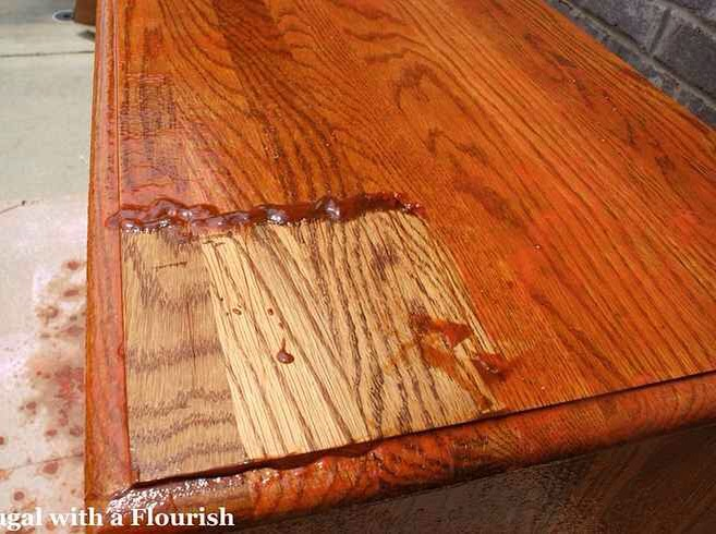26. Un-stain and re-stain your furniture.